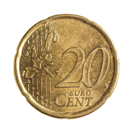 Detailed shoot of twenty euro cents photo