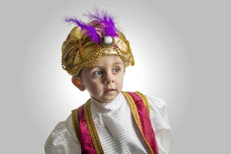 sultan: Child posing in sultan costume