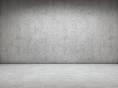 Kamer met betonnen muur en vloer Stockfoto