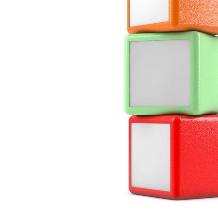 white boxes: Square boxes on white background Stock Photo