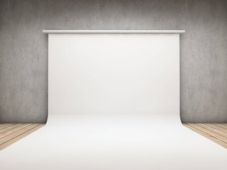 White backdrop on a room