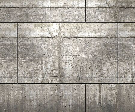 concrete background: Textured concrete blocks wall or floor background