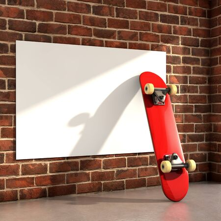 Skateboard. 3d Illustration Stock Photo, Picture And Royalty Free ...