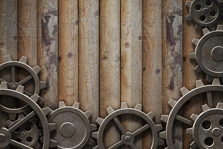 Engranajes de metal mecanismo 3d ilustración engranada Foto de archivo - 77581704