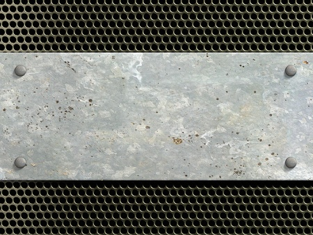 steel sheet: Metal texture with rivets background 3d illustration