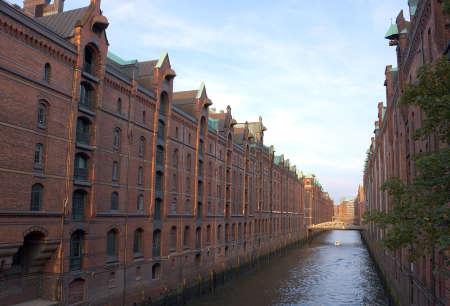 clinker: waterway of Hamburg Speicherstadt