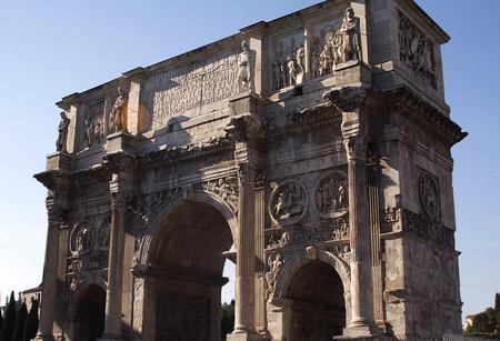 constantin: Ark of Constantin-I-Rome Stock Photo