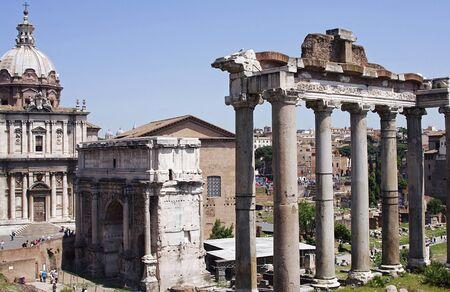 spqr: SPQR Roman Forum II Stock Photo