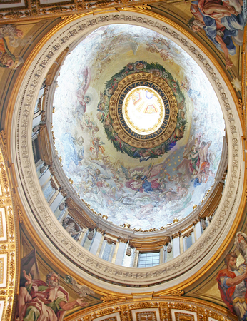 dome type: Cupola from inside-St. Peters dome Rome