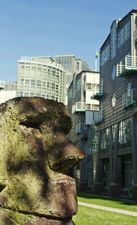 moai: Moai Angelito-Hamburgo-Alemania