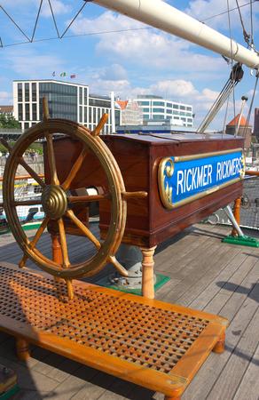 nostalgy: Rickmer Rickmers III steering wheel-Hamburg