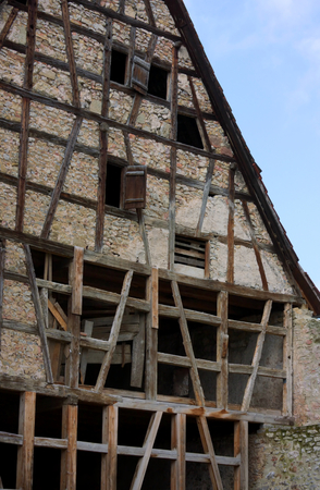 framework of a half timbered house in Waiblingen - Germany