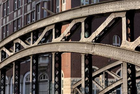 Speicherstadt Bridge - I - Hamburg Stock Photo