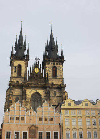 Tyn cathedral in Christmastime - I - Prague