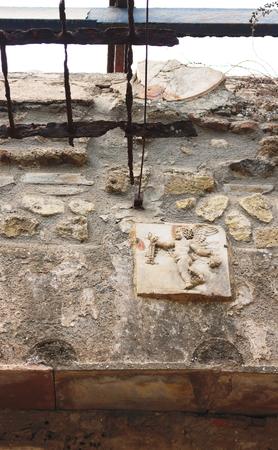 Ancient art restored IV - Herculaneum - Italy Stock Photo