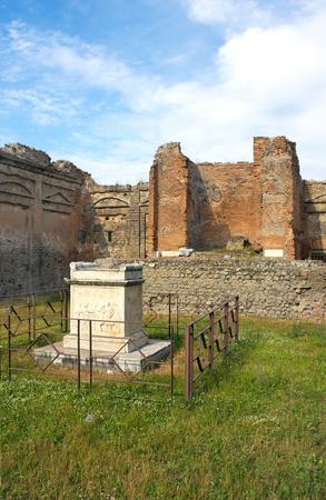 Ancient splendor-I-Pompeii-Italy Stock Photo