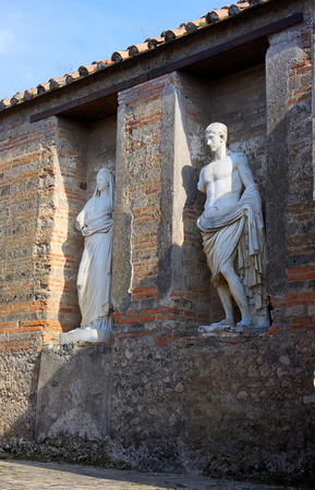 Ancient sculptures - III - Pompeii - Italy Reklamní fotografie - 124855043