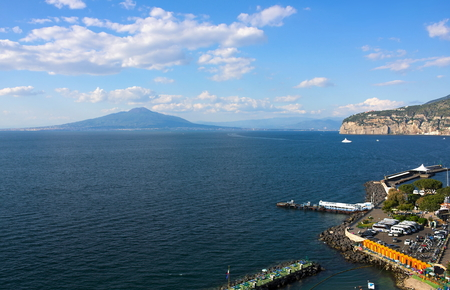 Coastal view on Sorrento - III - Campania - Italy 写真素材