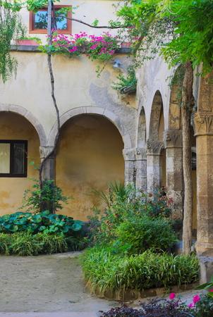 Monastery San Francesco-I-Sorrento-Italy Stock Photo