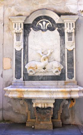 Ornamented Wall Fountain-I-Sorrento-Italy