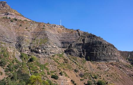 Cajon del Maipo - Canyon - II Chile Foto de archivo