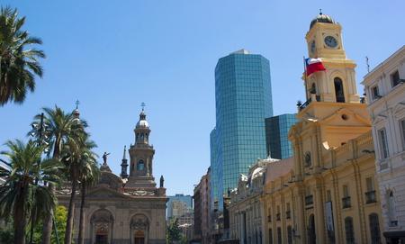 Santiago de Chile- Plaza de Armas- I- Stock Photo
