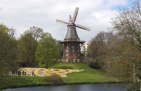 Bremen - windmill at ramparts - VI -