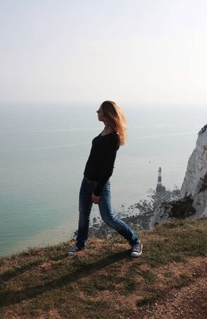 Eastbourne - Beachy Head - on top - III - Reklamní fotografie