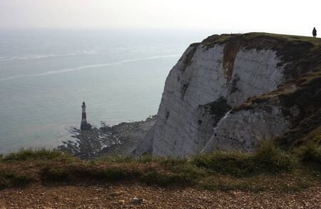 Eastbourne - Beachy Head - lighthouse - IX - Reklamní fotografie