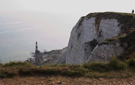 Eastbourne - Beachy Head - lighthouse - X - Reklamní fotografie
