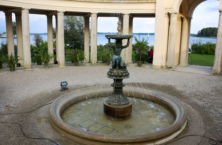 Fountain - palace garden - I - Schwerin -