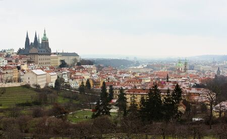 Townscape in winter time - Prague