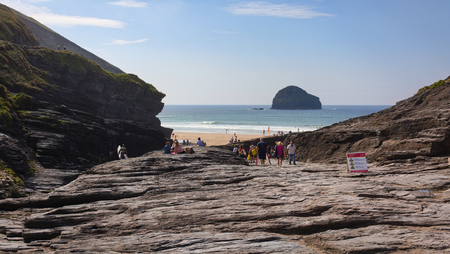 Sunny day at Trebarwith Strand - Cornwall - UK