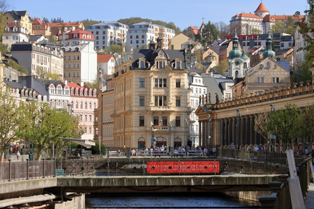 Beautiful Spa Town Karlovy Vary in Bohemia (Czech Republic)