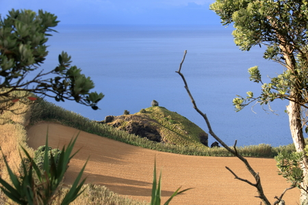 Beautiful landscape Isla Sao Miguel at the Azores (Portugal)