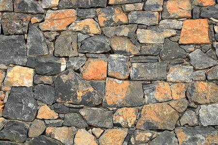 Big gray wall made from stone bricks Stock Photo - 124813567