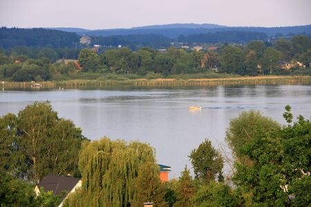 Lake voyage with a boat in WerderHavel, Potsdam, Brandenburg in Germany