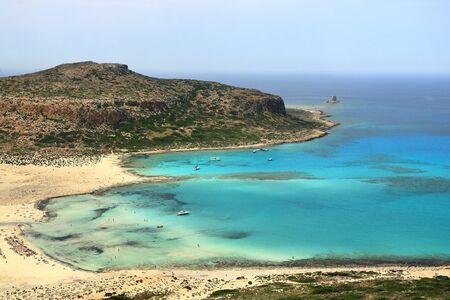 Balos lagoon on Crete island in Greece