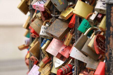 love locks near Vienna in Austria
