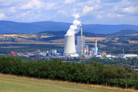 Coal Fired Power Plant in Ledvice in Czech republic