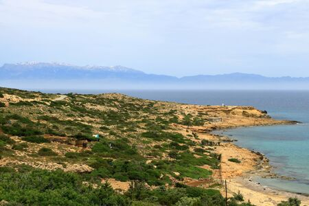 Images from a beautiful island called gavdos, the most southern island of Europe 版權商用圖片