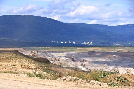Brown coal mine near ledvice/bilina in the Czech republic Standard-Bild