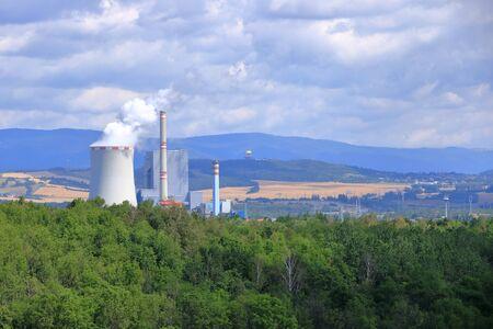 Coal Fired Power Plant in Ledvice in Czech republic Reklamní fotografie
