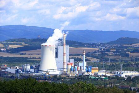Coal Fired Power Plant in Ledvice in Czech republic
