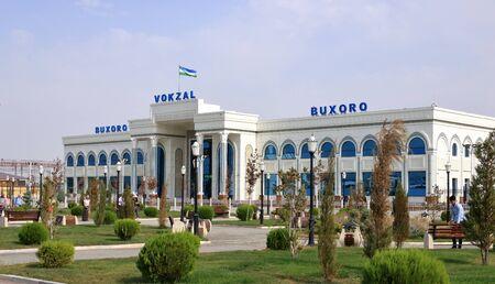 September 25 2019 - Bukhara, Uzbekistan: Impressions of railroad station Reklamní fotografie - 135503303
