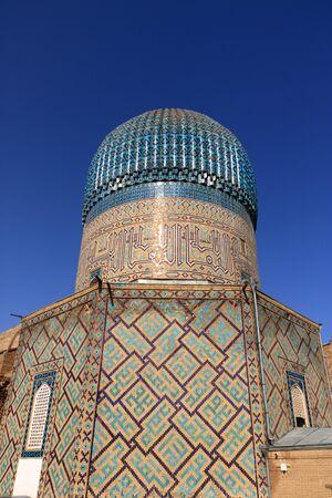 September 26 2019 - Samarkand, Uzbekistan: Gur-e Amir Mausoleum on Silk Road