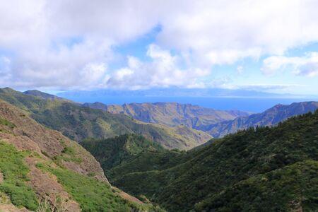 The Area around the Picturesque rock Roque de Agando on the island of La Gomera, Canary Islands, Spain