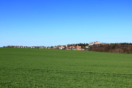 Small town Rabenau near Dresden in Saxony in Germany 写真素材