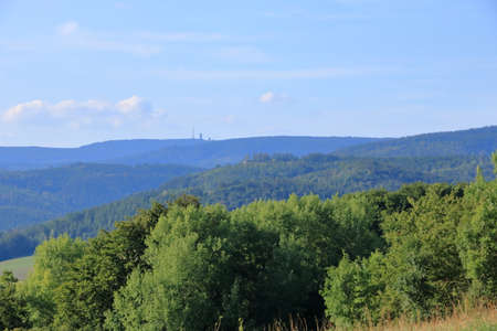 Tower on Big Inselsberg on the Hiking Trail Rennsteig, Germany