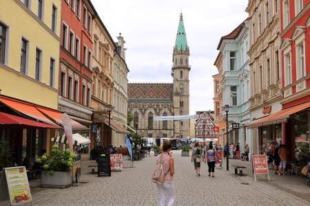 August 06 2019 - Meiningen, Thüringen, Germany: Historic Old Town Architectur